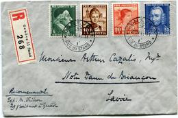 SUISSE LETTRE RECOMMANDEE DEPART GENEVE 29-XII-41 POUR LA FRANCE - Pro Juventute