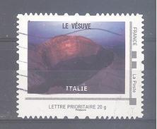 France Collector Oblitéré (Volcans 2012 - Le Vésuve Italie) (lignes Ondulées)