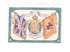 Vignette Militaire Delandre - Angleterre - Scottish Horse Yeomanry - Erinnofilia