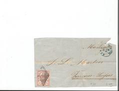 Rayon III  Sur Fragment De Lettre, Zst N°20, Cachet Grille (315) - 1843-1852 Timbres Cantonaux Et  Fédéraux