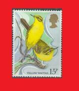 GB UK 1980, Yellow Wagtail /  Bergeronnette Printanière Bird Oiseau - Sans Gomme - Passereaux