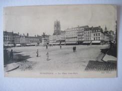 CPA DUNKERQUE. LA PLACE JEAN BART T.B.E. 1918  Animée - Dunkerque
