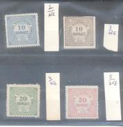 CRETE AN 1898 BUREAU ANGLAIS D'HERAKLION YVERT NRS. 2-5 COTATIOY YVERT PLUS DE 70 EUROS - Kreta