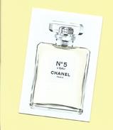 CHANEL CARTE N° 5 L' Eau De Chanel Avec échantillon Au Recto - Perfume Cards