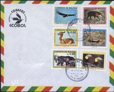 Bolivia 1987 CEFIBOL 1275-80s FDC No Oficial. Fauna En Peligro De Extincion. See Desc. - Bolivia