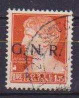 R.S.I. 1944  EMISSIONE DELLA GUARDIA NAZIONALE REPUBBLICANA  SASS. 481 USATO VF - Usati