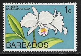 Barbados, Scott # 396 Mint Hinged Orchid, 1974 - Barbados (1966-...)