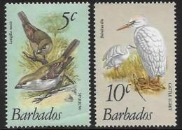 Barbados, Scott # 497 Mint Hinged(crease), 499 Used Birds, 1979 - Barbados (1966-...)
