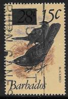 Barbados, Scott # 563 Used Birds, Surcharged, 1981 - Barbados (1966-...)