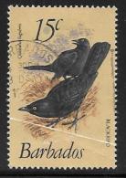 Barbados, Scott # 570 Used Birds, 1982, Crease Or Print Flaw?? - Barbados (1966-...)