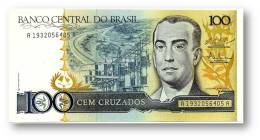 BRASIL - 100 CRUZADOS - ND ( 1987 ) - P 211.c - UNC. - Serie 1932 - Sign. 25 - Juscelino Kubitschek - Brazilië