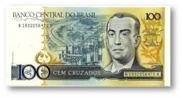 BRASIL - 100 CRUZADOS - ND ( 1987 ) - P 211.c - UNC. - Serie 1932 - Sign. 25 - Juscelino Kubitschek - Brésil