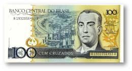 BRASIL - 100 CRUZADOS - ND ( 1987 ) - P 211.c - UNC. - Serie 1932 - Sign. 25 - Juscelino Kubitschek - Brazil