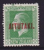 Aitutaki 1917 SG.19 Mint Hinged (refer Top Edge) - Aitutaki