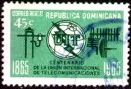 Centenary Of ITU, Dominican Republic Stamp SC#C145 Used - Dominicaine (République)