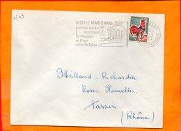 B. Du RHONE, Marignane, Flamme SCOTEM N° 1503,  Hotel De Ville, Aeroport église - Oblitérations Mécaniques (flammes)