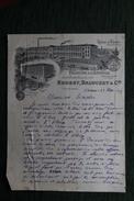 Lettre Ancienne  - ST ETIENNE - Velours à L'Epingle, BROSSY , BALOUZET Et Cie. - 1900 – 1949