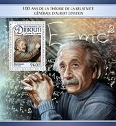 DJIBOUTI 2016 - Albert Einstein S/S. Official Issue
