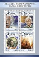 DJIBOUTI 2016 - Albert Einstein. Official Issue