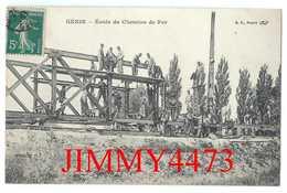 CPA - GENIE - Ecole De Chemin De Fer En 1912 - Edit. B. F. Paris Pour Bouillon KUB - Railway