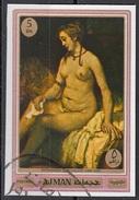 """554 Ajman 1970 """" Betsabea ...David """"  Quadro Dipinto Di Rembrandt Nuovo Preobliterato Imperf.  Barocco Painting Tableaux - Nudes"""