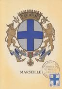 Carte  Maximum  1er   Jour    Armoiries  De   MARSEILLE   1958 - Maximum Cards