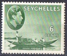 Seychelles 1938 6c Pirogue MH  SG 137b - Seychelles (...-1976)