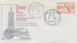 Enveloppe  31éme  Critérium  National  De  Boules    TOULOUSE    1985