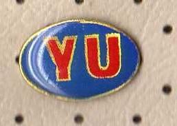 Auto Tag YU ( Yugoslavia ) Pin - Badges