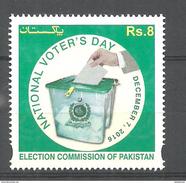PAKISTAN 2016 CELEBRATION OF NATIONAL VOTERS DAY    MNH - Pakistan