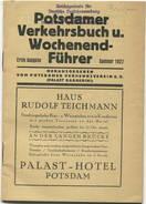 Potsdamer Verkehrsbuch U. Wochenend-Führer - Sommer 1927 - Erste Ausgabe - Herausgeber Potsdamer Verkehrsverein E.V. (Pa - Europa