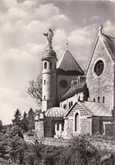 G , Cp , 67 , LE MONT SAINTE-ODILE , Monastère , Façade Est Et Statue De La Sainte - Sainte Odile