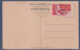 = Arrivée Du Général De Gaulle à Brazzaville 140B Sur CP Oblitéré Libreville 25.3.42 (type Du 115) Revue Des Troupes - Brieven En Documenten