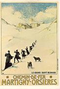 SAINT BERNARD - CHEMIN DE FER MARTIGNY-ORSIERES - REPRO  M360 - Advertising