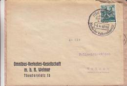 Allemagne - Zone Soviétique - Lettre De 1948 - Oblit Weimar - Recup Ancienne Enveloppe - Zona Sovietica