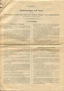 Bestimmungen Und Taxen - Beförderung Von Automobilen Durch Den Gotthard- Simplon- Und Lötschbergtunnel 1929 - 2 DINA4 Se - Europa