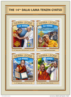 SIERRA LEONE 2016 ** Nelson Mandela Dalai Lama M/S - OFFICIAL ISSUE - A1702 - Famous People