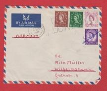 Grande - Bretagne  --  Env De Liverpool  --  Pour Wilhelmshaven  --  8 Oct 1958 - Covers & Documents