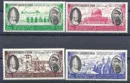 1964 JORDANIE 377-80 **  Visite Pape Paul VI, Roi - Jordanie