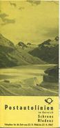 Postautolinien Im Bereich Schruns Bludenz 1966 - Faltblatt Mit 8 Abbildungen - Europa