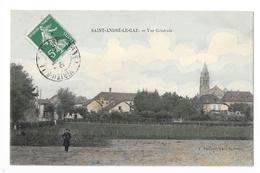 SAINT-ANDRE-LE-GAZ   (cpa 38)   Vue Générale - Carte Colorisée    - L 1 - Saint-André-le-Gaz