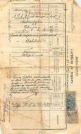 Certificat De Naissance Avec 2 Beaux Timbres De Roumanie - Zonder Classificatie