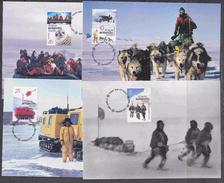 AAT 2001 Australians In The Antarctic 4 Maxicards** Mnh (34673) - Maximumkaarten
