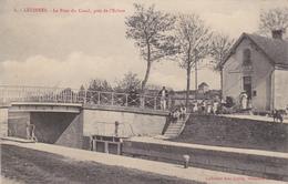 CARTE POSTALE   LEZINNES 89  Le Pont Du Canal,près De L'écluse - France