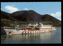 [023] DDSG Motorpassagierschiff 'Theodor Körner' In Fahrt Auf Donau, Dat. 1967 - Austria