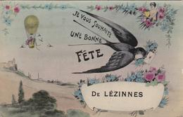 CARTE POSTALE   Je Vous Souhaite Une Bonne Fête De LEZINNES 89 - Autres Communes