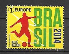 Belg. 2014 - COB N° 4422 ** - Coupe Du Monde Football - Brasil - Belgium