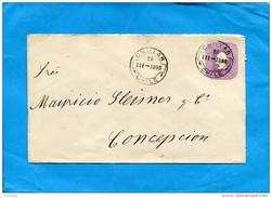 MARCOPHILIE -CHILI-lettre Entier Postal-5 Cent Colon Cad Chillan 1898> Conception - Chile