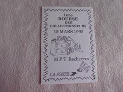 1ere Bourse Des Collectionneurs ...mpt Rechevres ...1992 - Bourses & Salons De Collections