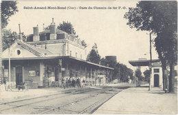 Cpa 18 – Saint-Amand-Mont-Rond ( Montrond ) – Gare Du Chemin De Fer P.-O. - Saint-Amand-Montrond